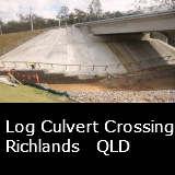 A Log Culvert Crossing  Richlands