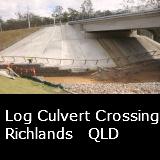 A Log Culvert Crossing  Richlands