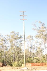 Glider resting pole