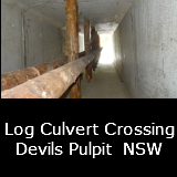 Log Culvert Devils Pulpit