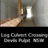 Log Culvert Devils Pulpit