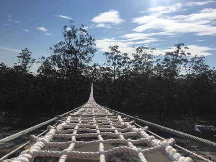 wildlife bridge flat rope bridge